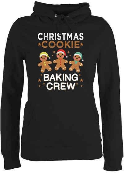 Shirtracer Hoodie »Christmas Cookie Baking Crew - 3 Kekse - Weihnachten & Silvester Geschenke - Damen Premium Kapuzenpullover« Neujahrsgeschenke Party Deko