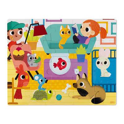 Janod Puzzle »Haptik-Puzzle Haustiere 20 Teile«, 20 Puzzleteile