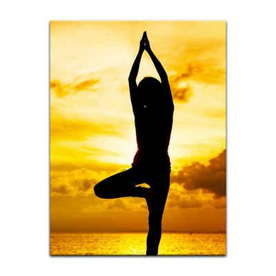 Bilderdepot24 Leinwandbild »Yoga am Strand II«, Wellness
