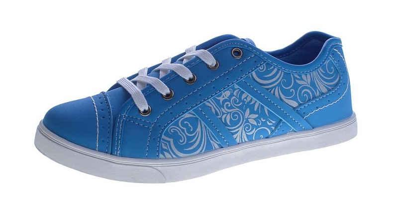 Scandi »Damen Sneaker sportliche Halb Schuhe Slipper« Slip-On Sneaker Blumenmuster, Frühjahr, Sommer