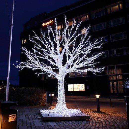 interGo LED-Lichterkette »LED 50m Lichterketten Weihnachten Weiß Deko für«