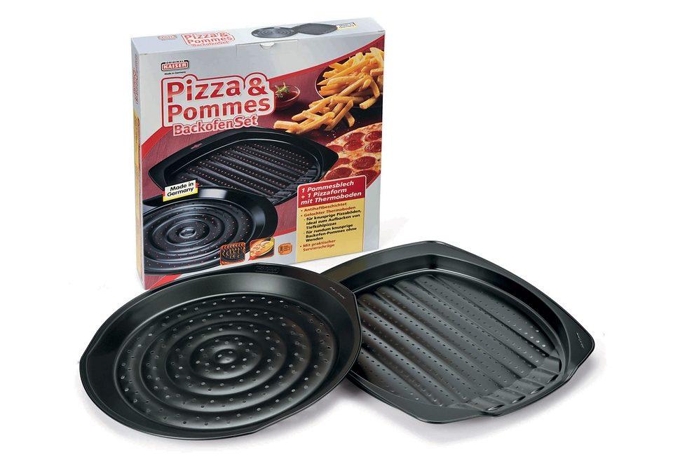 Pizza und Pommes Backofen-Set, Kaiser, Made in Germany (2tlg.)
