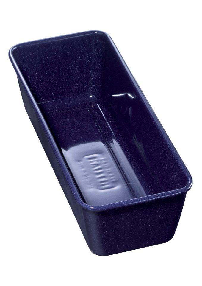 Königskuchenform, Kaiser, »Emaille«, Made in Germany in blau