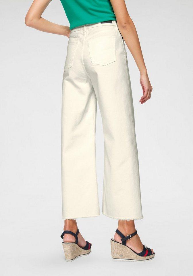 united colors of benetton -  Culotte-Jeans mit stylischem Fransensaum