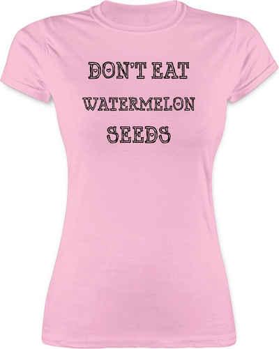 Shirtracer T-Shirt »Don't eat watermelon seeds - Schwangerschaft - Damen Premium T-Shirt«
