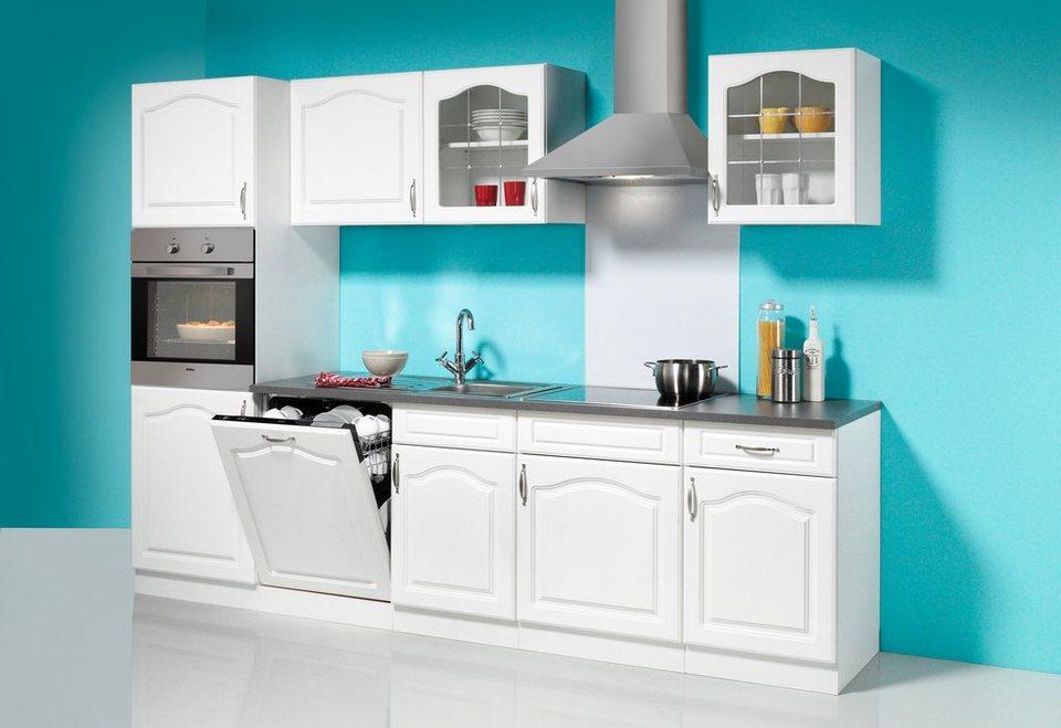 Küchenzeile mit E-Geräten »Lausanne«, Breite 280 cm in weiß