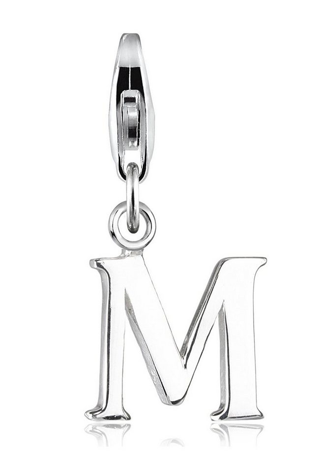 Elli Charm »Buchstabe M Initialie 925 Silber« in Silber