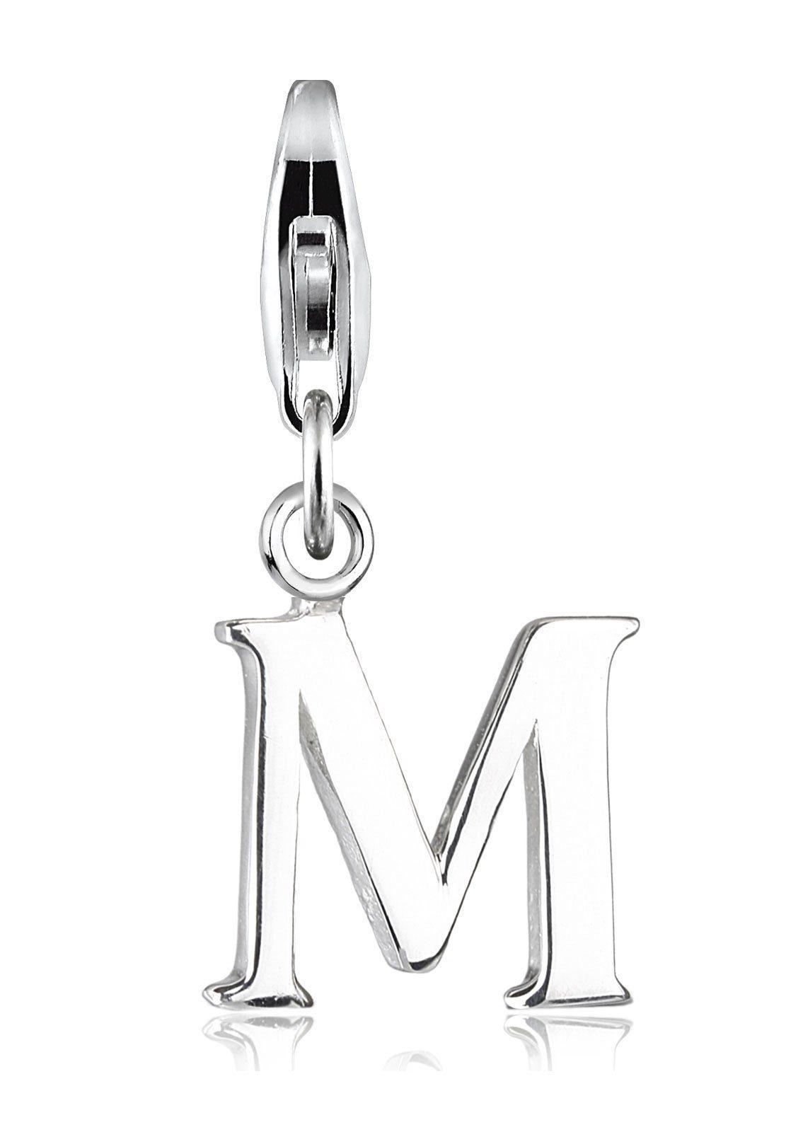 Elli Charm »Buchstabe M Initialie 925 Silber«