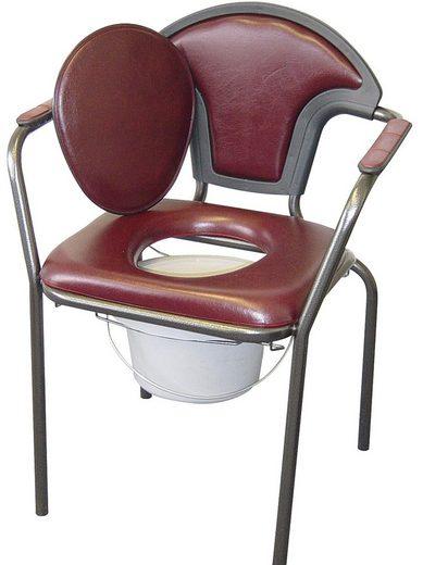 Toiletten-Stuhl mit angenehm weichem Schaumstoff gepolstert