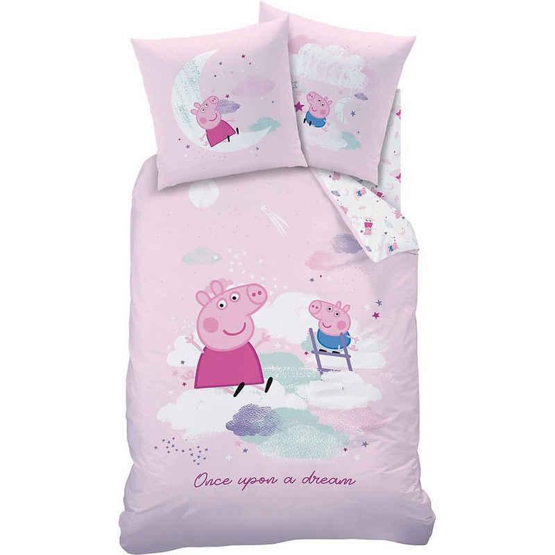 Bettwäsche »Bettwäsche Peppa Pig Dream, Baumwolle, rosa, 135 x«, CTI