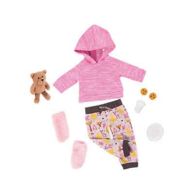 Our Generation Puppenkleidung »Deluxe Schlafanzug & Teddybär für 46cm Puppen«