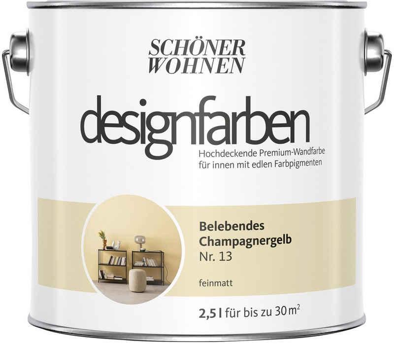 SCHÖNER WOHNEN-Kollektion Wand- und Deckenfarbe »Designfarben«, belebendes Champagnergelb Nr. 13, feinmatt 2,5 l