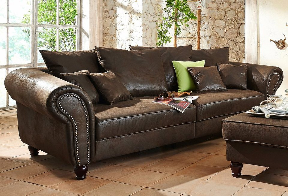 Home affaire Big Sofa BigBy Frei im Raum stellbar