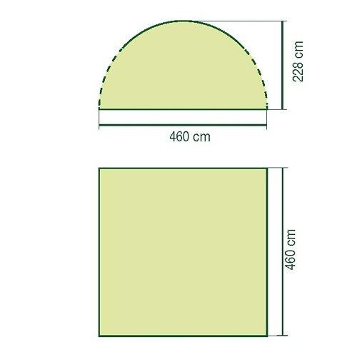 Coleman Zelt (Zubehör) »Event Shelter Deluxe Sunwall Window & Door« in grün