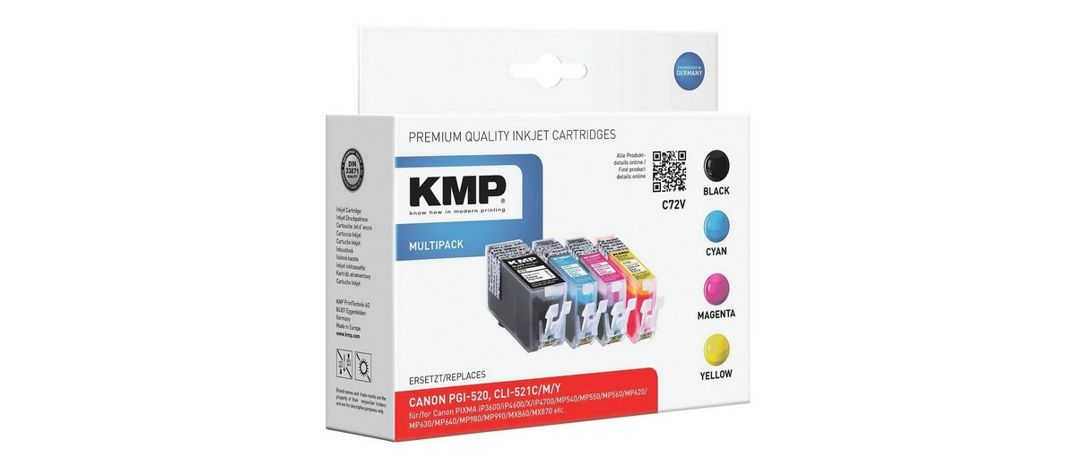 KMP Tintenpatronen-Set ersetzt Canon »PGI-520 BK/CLI-521C/M/...