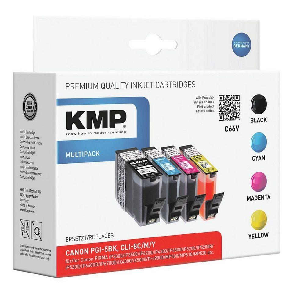 KMP Tintenpatronen-Set ersetzt Canon »PGI-5BK/CLI-8C/M/Y«