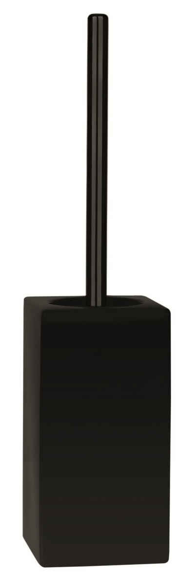 spirella Toilettenpapierhalter »WC-Bürste QUADRO-MATT«, Toilettenbürste aus hochwertiger Keramik, schwarz, elegante Matt-Optik