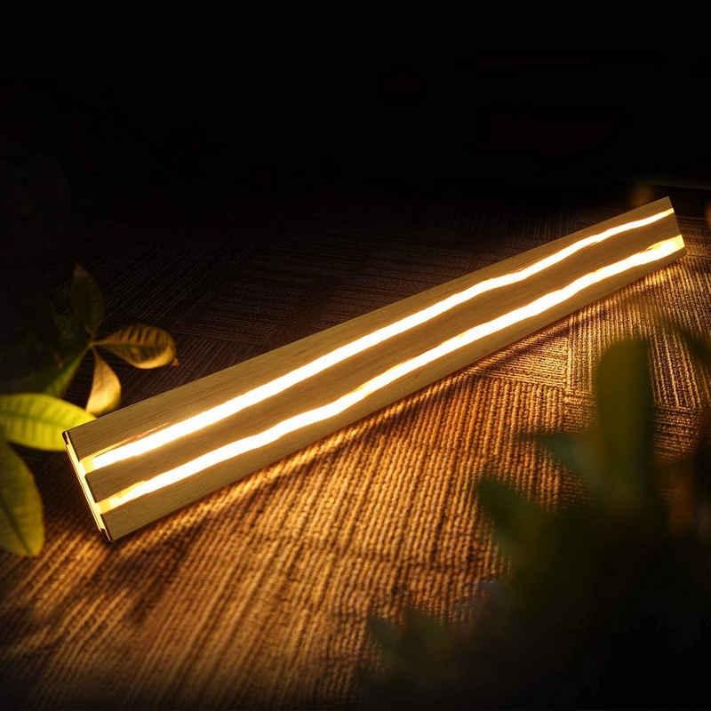 ZMH LED Wandleuchte »Wandlampe innen Holz Nachtlampe warmweiß für Schlafzimmer Flur Treppe Innenbeleuchtung«