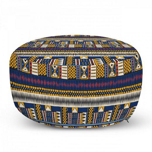 Abakuhaus Pouf »dekorative weiche Fußstütze und Reißverschlusshülle osmanisches Wohn-und Schlafzimmer«, Volk Shapes