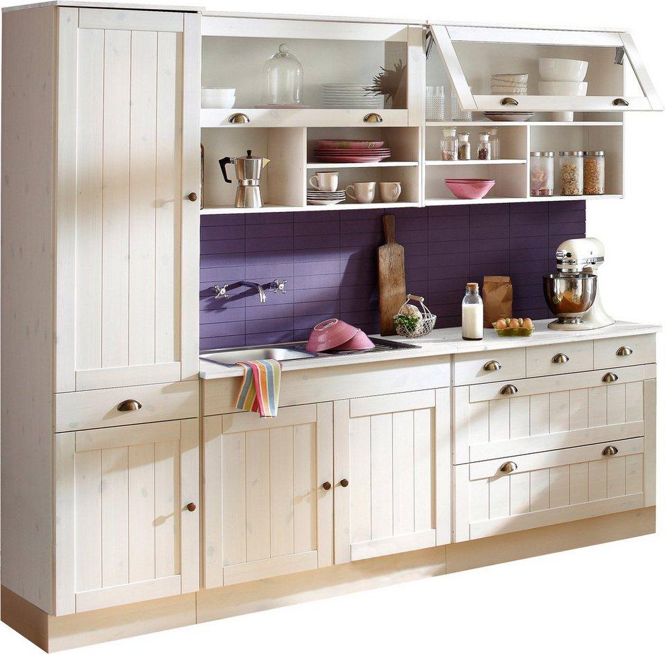 Küchenblock »Föhr«, 250 cm breit (5-tlg.) in weiß