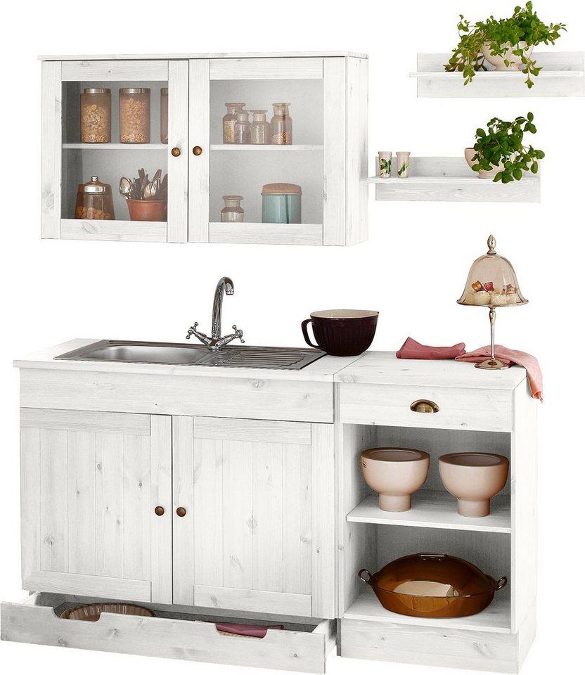 Küchenblock »Föhr«, 150 cm breit (5-tlg.) in weiß