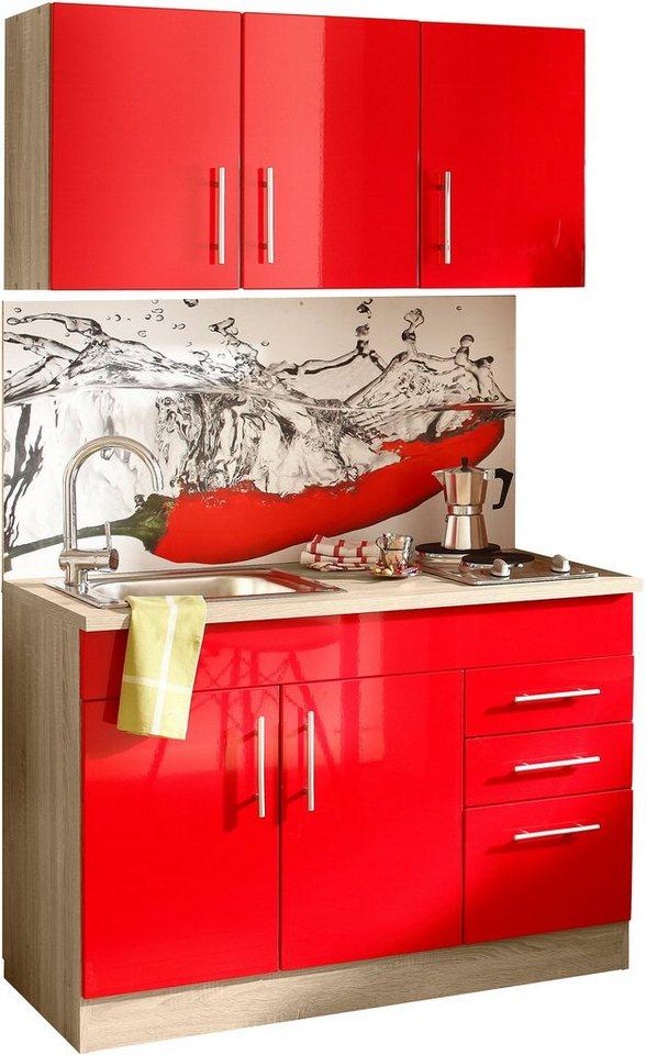 Bevorzugt HELD MÖBEL Küchenzeile »Toledo«, mit E-Geräten, Breite 120 cm QU85
