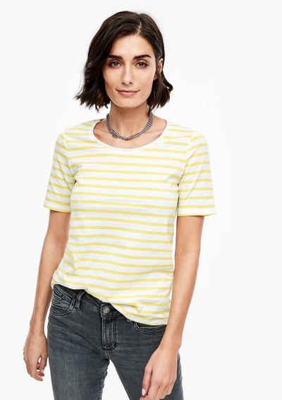s.Oliver Kurzarmshirt »T-Shirt mit Streifen« (1-tlg)