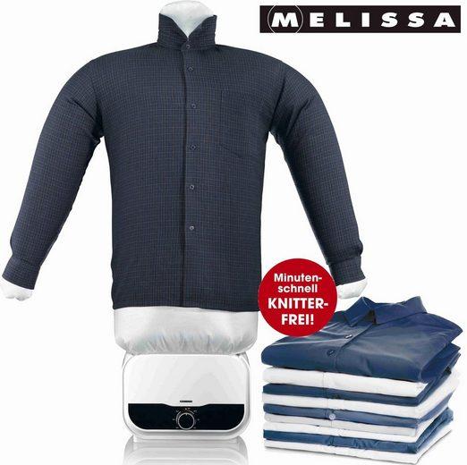 MELISSA Bügelsystem 16390055 Bügelpuppe, Blusentrockner,Bügelsystem,Hemd und Blusen Bügler,weiß, 1200 Watt Power,Easy Bedienung, Kunststoff Hemdenbügler, 1200 W
