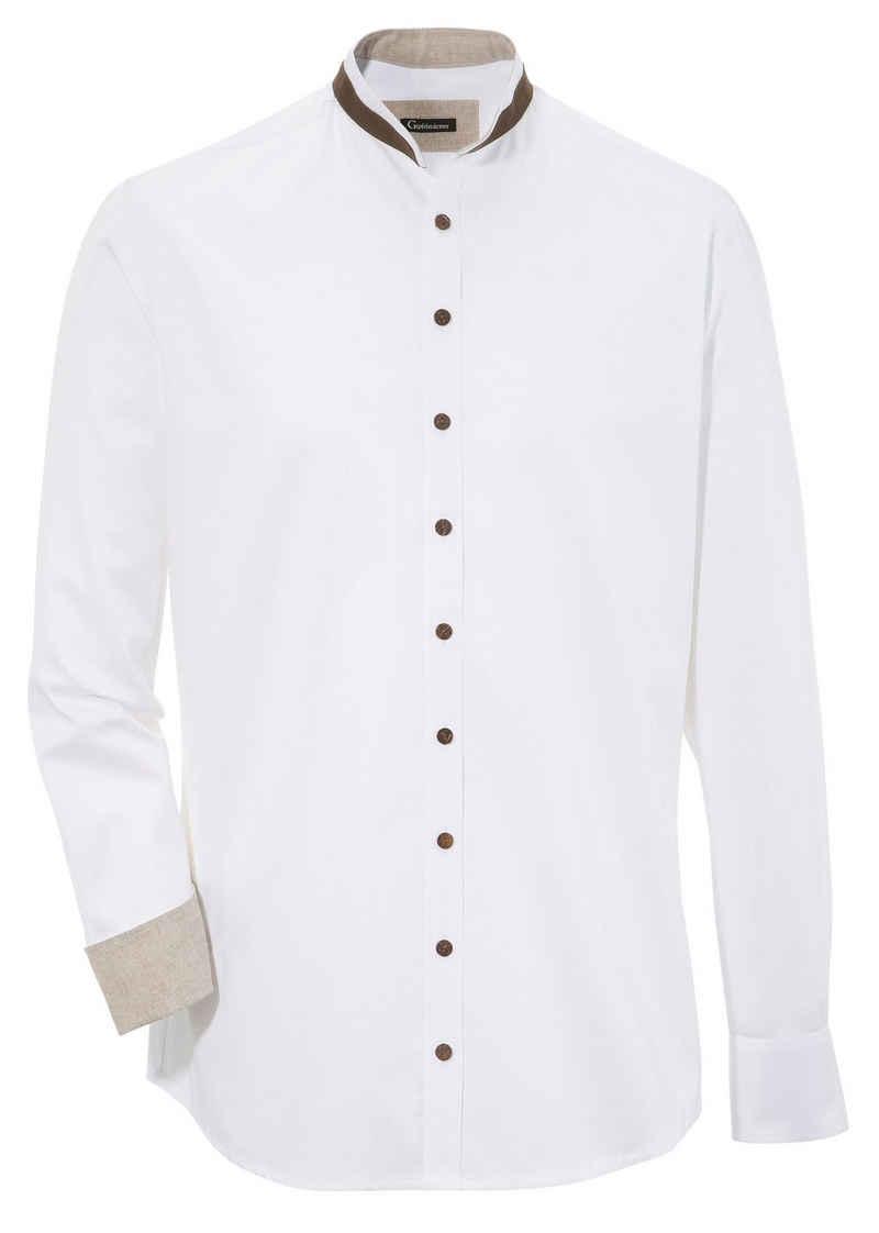 OS-Trachten Trachtenhemd mit Kontrastverarbeitung