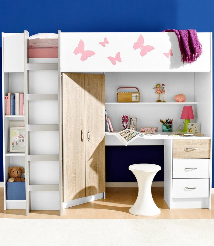 Hochbett online kaufen hochbett mit treppe otto for Doppel hochbett ikea
