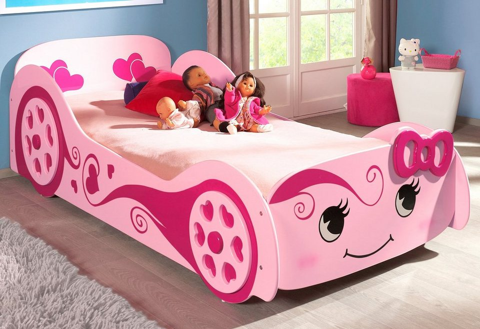 bett vipack kinderbett in lovecar optik online kaufen otto. Black Bedroom Furniture Sets. Home Design Ideas