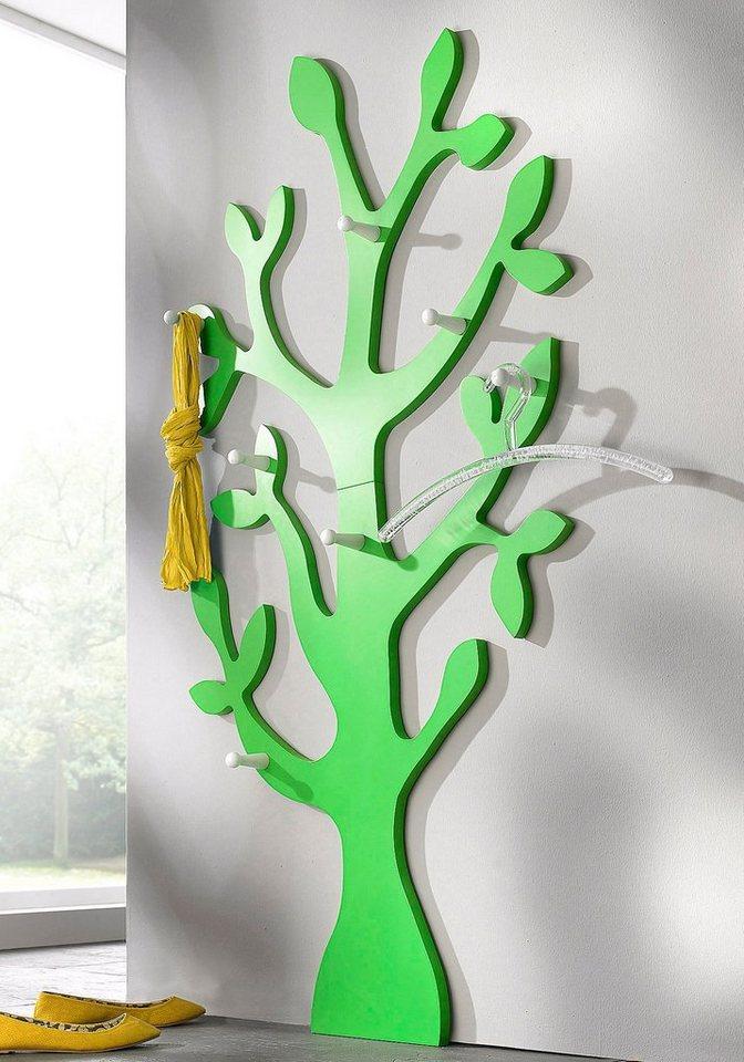 Wandgarderobe »Baum« in grün