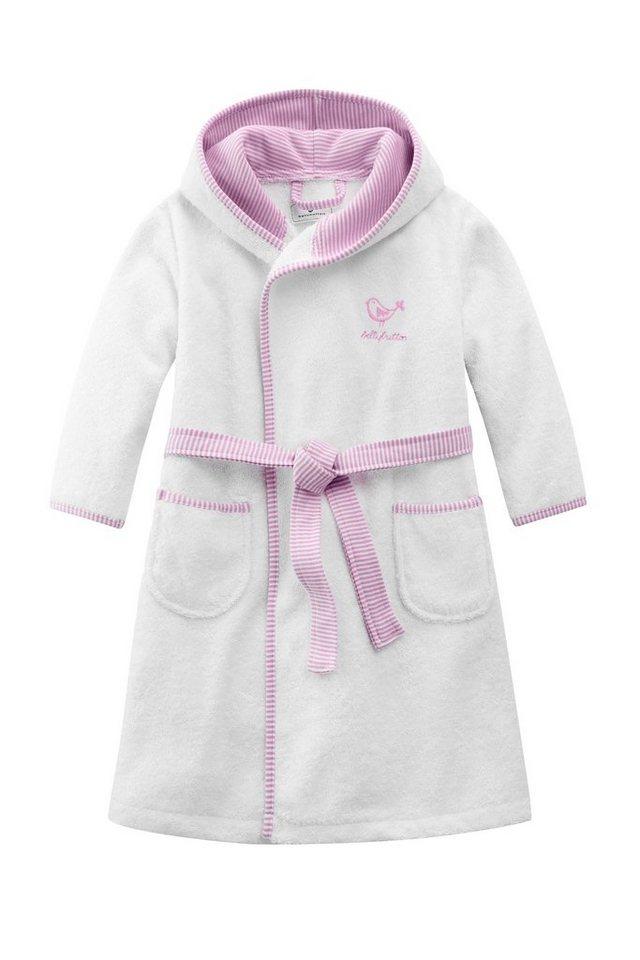 BELLYBUTTON Bademantel »mit Gürtel für Kinder« in white/rose