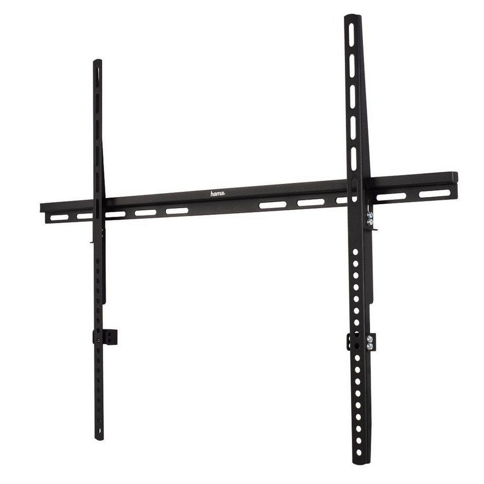 Hama TV-Wandhalterung FIX, 1 Stern, 160 cm (63), Schwarz in Schwarz