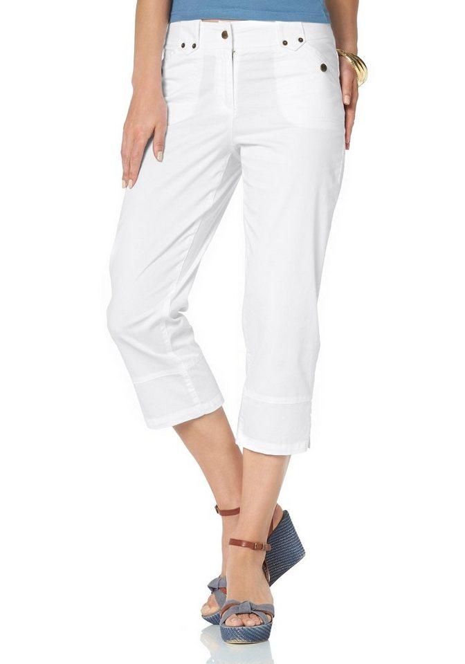 Boysen's 3/4-Hose mit kleinen Zierriegeln in weiß