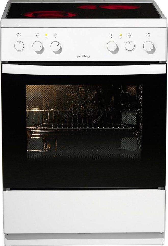 Privileg Elektroherd S6K236SVI/W, A, 85 cm, Umluftbeheizung in weiß
