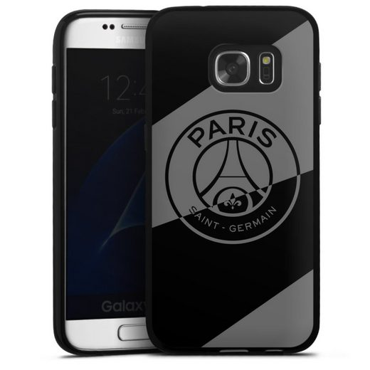 DeinDesign Handyhülle »Dark Layer - PSG« Samsung Galaxy S7, Hülle Logo PSG Paris Saint-Germain