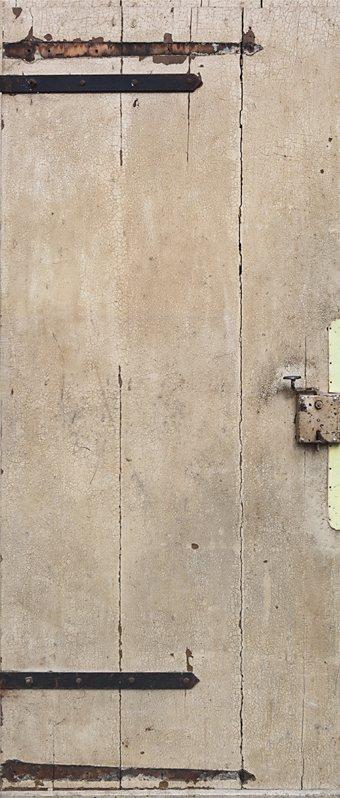 Fototapete, Livingwalls, »Türtapete 2.0 Motiv Gummersbach« in creme/grau/beige