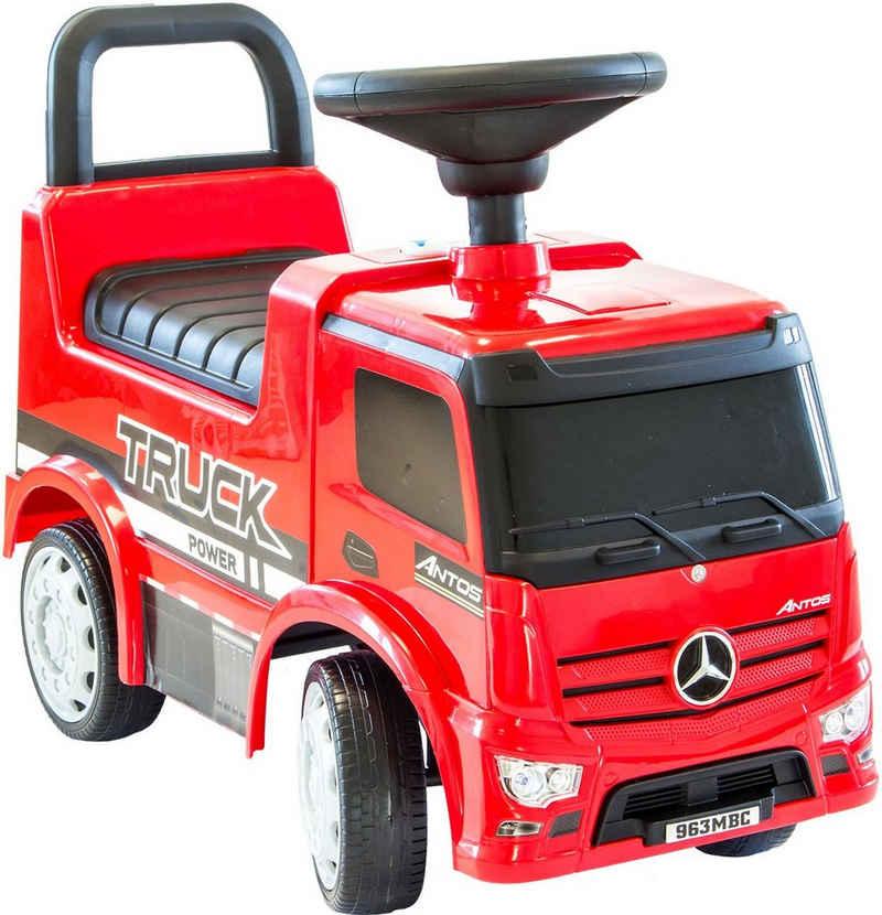 NATIV Spielzeug Rutscher »Babyrutscher Mercedes Antos Truck«, leise laufende Kunststoffräder, mit Sound