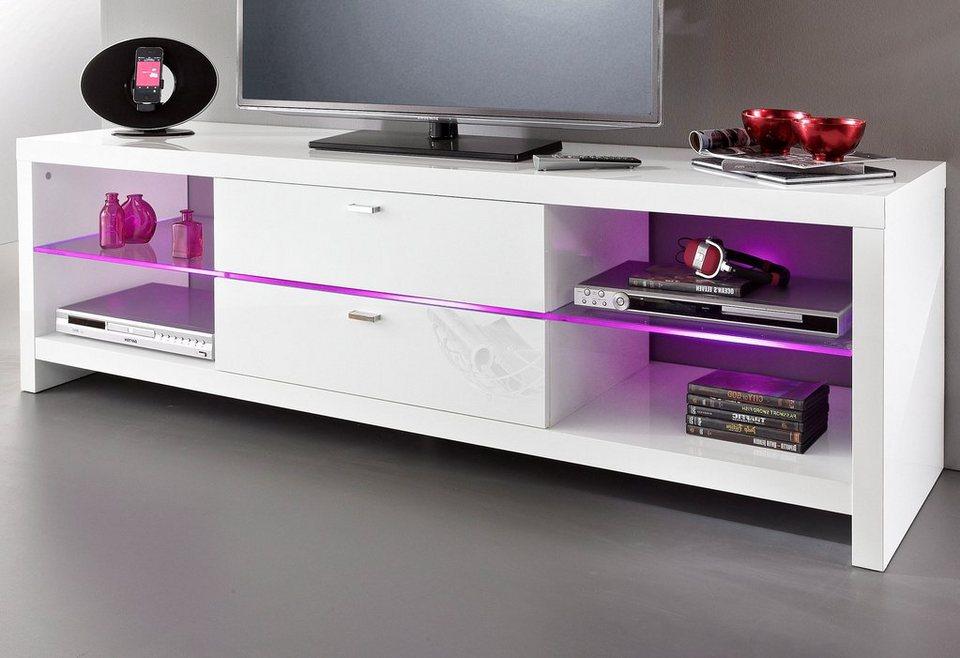 TV-Lowboard, HMW Möbel, Breite 177 cm in weiß