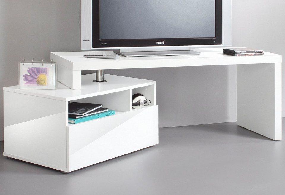 TV-Lowboard, HMW Möbel in weiß