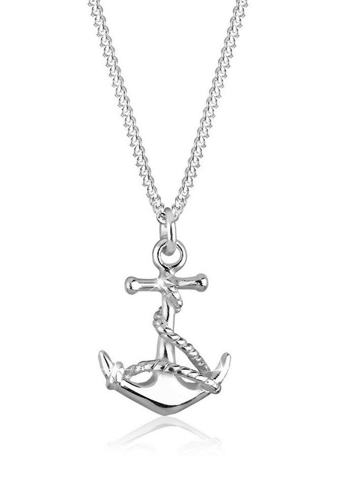 Elli Halskette »Anker Symbol Maritim 925 Silber« in Silber
