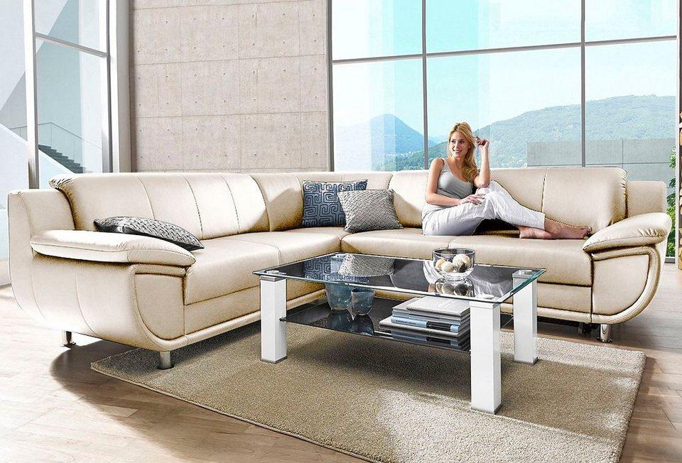 ecksofa wahlweise mit bettfunktion breitere armlehnen online kaufen otto. Black Bedroom Furniture Sets. Home Design Ideas