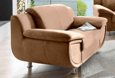 TRENDMANUFAKTUR Sessel, mit extra breiten Armlehnen, frei im Raum stellbar