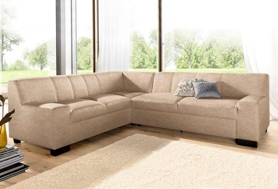 DOMO collection Ecksofa, wahlweise mit Bettfunktion