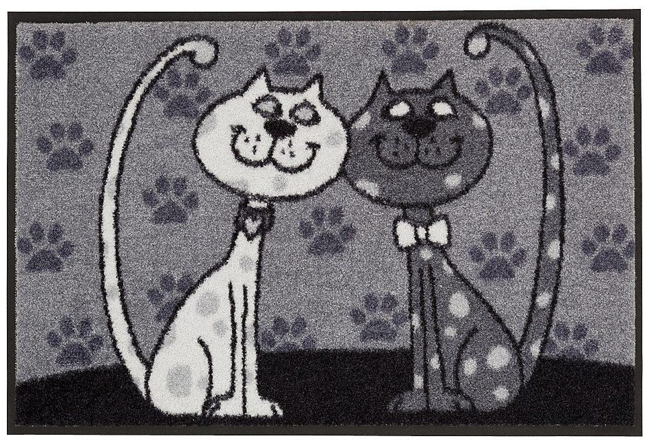 Fußmatte, Salonloewe, »PÄRCHEN«, mit Katzenmotiv