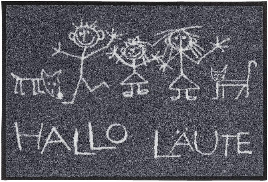 Fußmatte »Hallo Läute«, Salonloewe, rechteckig, Höhe 9 mm