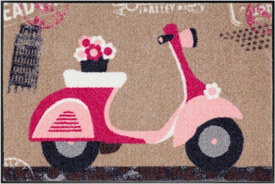 Fußmatte, Salonloewe, »Pink Scooter« in bunt