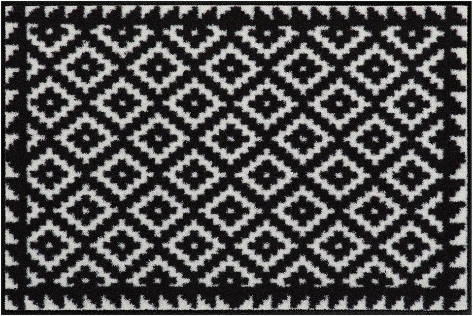 Fußmatte, Salonloewe, »Tabuk Black&White« in schwarz