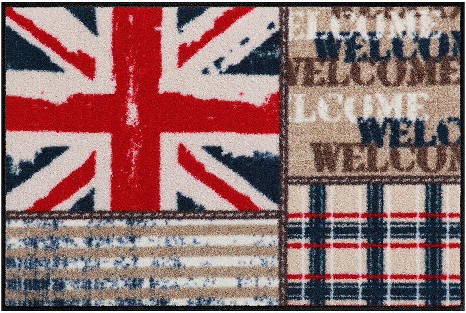 Fußmatte, Salonloewe, »Union Jack Patchwork« in bunt
